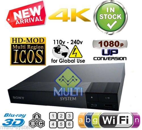 SONY BDP-S6500 CODEFREE 2K/4K- 2D/3D - WI-FI - SACD - Blu Ray...