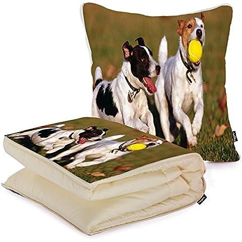 i FaMuRay Cuscino e Coperta da Viaggio, Dogs Jack Russell Terrier