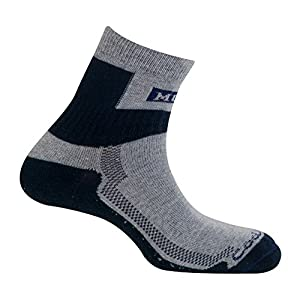 MUND Nordic Walking Socke Trekking, Herren, Marineblau, XL (46–49)