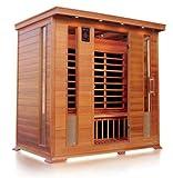Sauna ad infrarossi a pannelli di carbonio per 4-5 persone per interno