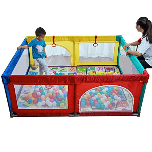 Große Baby Play Yard, Oxford Tuch Zaun 8 Panel Kinder Aktivität Center Für Jungen Mädchen Outdoor Indoor Spiel Zaun - Baby-mädchen-spiel-yard