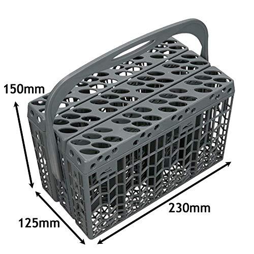 Spares2go - Cesta cubiertos 3 compartimentos lavavajillas