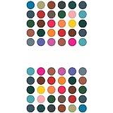 Sunaina Women's Matching Fabric Plaza Size-2 Round Bindis [Multicolour, MP611]
