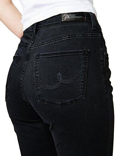 Pioneer Betty - Jeans - Droit - Femme Noir - Schwarz (black 00)
