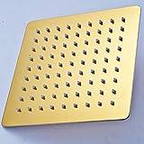 LARGEMOP 8/10/12 Pollici in Acciaio Inox Doccia a Pioggia Testa Rotonda/Bagno Piazza Top Showerhead Golden 12 inch