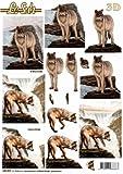 Wolf - 3D Stanzbogen