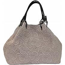 075001385cd56 BZNA Bag Lea powder Italy Designer Damen Ledertasche Handtasche Tasche  Wildleder Prägung Shopper Neu