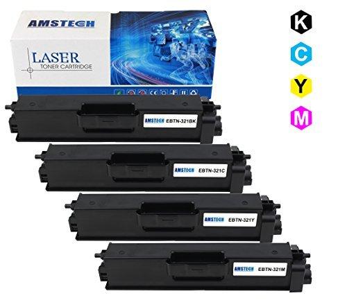 4 Pack Amstech kompatibel toner TN-321BK TN-321C TN-321M TN-321Y Tonerkartusche replacement fuer Brother HL-L8250CDN L8350CDW L8350CDWT, MFC-L8650CDW MFC-L8600CDW L8850CDW Brother TN 321 Brother 321 ( 1 TN-321BK Schwarz, 1TN-321C Cyan, 1 TN-321Y Gelb, 1 TN-321M Magenta, K-2500 Seiten, C/M/Y-1500 Seiten) (Brother Toner-l8600cdw)