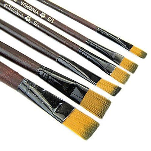 Steellwingsf 6 Stück/Set Nylon Acryl Ölpinsel für Künstler Malerpinsel für Zubehör Aquarell-Zeichnungs-Werkzeug, Kunst Malpinsel für Kinder, Studenten, Starter multi -