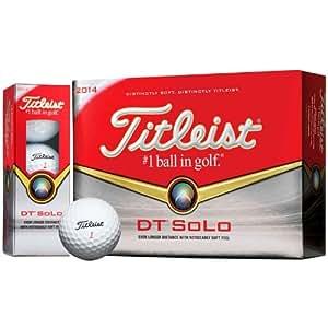 Titleist Box of 3 balls DT Solo: Amazon.co.uk: Sports