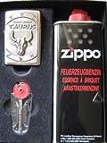 Zippo Feuerzeug Sternzeichen Stier Geschenk Set