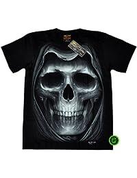 """T-Shirt Rock Chang """"Glow in the dark"""" Chang Heavy Metal Biker Tattoo Rocker Gothic (4017)"""