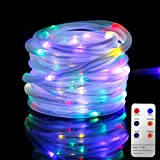Led Rope Lights, 10M Tube Lights with 8 Modes, Waterproof Strip Lights with 136 LEDs, String Lights Mains Powered for Christmas Decorations, Tree Wedding Party Path Garden Patio Outdoor (Multi-colored)
