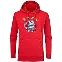 FCB Bayern München Fussball Hoodie mit FCB Logo rot Herren