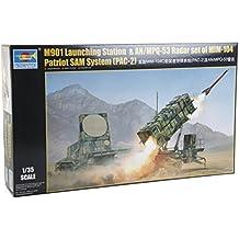 01022 Trumpeter - kit modelo M901 El lanzamiento de la estación y AN / MPQ-53 equipo de radar del sistema de MIM-104 Patriot PAC-2 Sam, gris