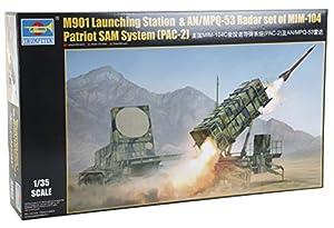 Trumpeter 01022 Kit Modelo M901 El Lanzamiento de la estación y AN / MPQ-53 Equipo de Radar del Sistema de MIM-104 Patriot Pac-2 Sam, Gris