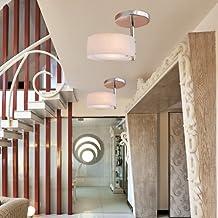 ALFRED® Lampadario moderno in acrilico (finitura cromata), Mini Style montaggio a filo, a soffitto Modern Light Fixture per Garage, disimpegno, camera matrimoniale, Soggiorno