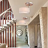 ALFRED® Modern Chrome Finish Acrylic Chandelier, Mini Style Flush Mount Ceiling Light Fixture for Garage, Hallway, Bedroom, Living Room