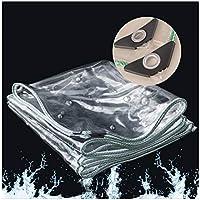 WZNING Tent Tarp, Transparent PVC Transparent PVC a Prueba de Polvo e Impermeable Tarpaulina, con Dosel de ventilación y Lona, Cubierta de Planta Plegable con Cuerda, 32 tamaños Durable y Protector