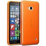 Microsoft Lumia 640 Funda Protectiva de Silicona Gel TPU estrecha - Naranja sólido