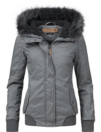 Eight2Nine Damen Jacke Winterjacke 44278AEN Blau/Grau Gr. S Kurze Warme Down Coat