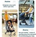 Cochecito for trotar, Sistema de seguridad de 5 puntos Cochecito for niños pequeños, Cochecito reclinable de cuna convertible Carro doble compacto con manillar ajustable y canasta de almacenamiento