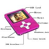 Btopllc Lettore MP3 / MP4 da 16GB, Lettore musicale digitale, Registrazione vocale audio con auricolare e cavo USB - (rosa 01)
