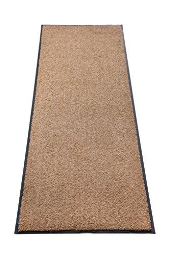 Premium Fußmatte Schmutzfangmatte SANSIBAR ✓ Extrem strapazierfähig ✓ Außen & Innen ✓ Waschbar ✓ PVC-frei – Sauberlaufmatte Haustür Schmutzmatte Türmatte Design Türvorleger – Eingangsmatte Schmutzfangteppich Schmutzfänger Außenbereich (Sansibar 60x120 cm, taupe)