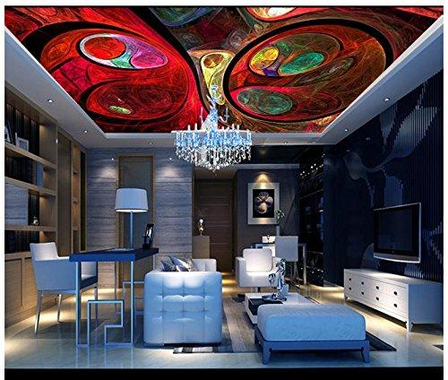 Mznm 3D Wallpaper 3D Soffitto Wandtapete Murales Solo Bella Cupola Europea Deckendekor 3D (Belle Sole)