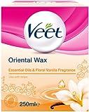 Veet Essential Oils and Floral Vanilla Warm Wax 250 ml Microwavable Jar