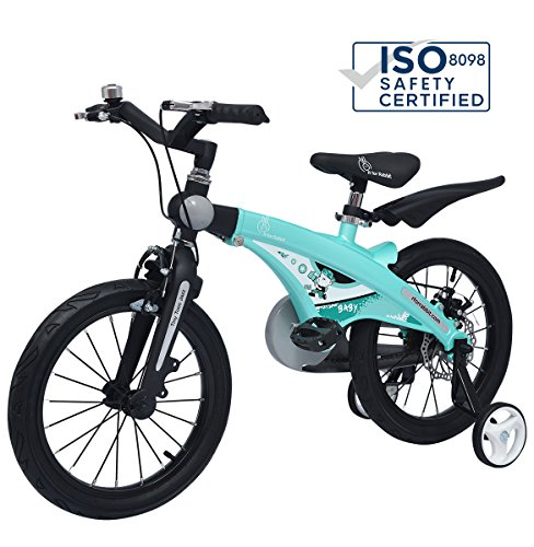 R for Rabbit Tiny Toes Jazz Bicycle- The Smart Plug and Play Kids Cycle(16 inch/T - for 4-7 Yrs) (Lake Blue)