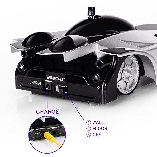 RC Auto kaufen  Bild 4: QUN FENG Ferngesteuertes Auto Ferngesteuertes Stunt Auto RC elektrische Wand Klettern Racing Fahrzeug perfekt für Kinder Jungen (schwarz)*