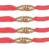 WhopperIndia Ensemble de 4 centres 3 petits diamants et perles traditionnels Bracelet...