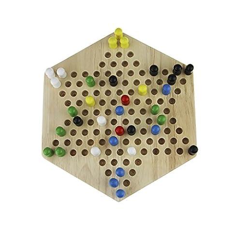 Chinese Checkers, Strategiespiel, Dame Spiele Traditionelle Hölzerne Dame Spiel Kinder Jungen Mädchen Pädagogische Spielzeug Reise Spiel Desktop Brettspiele Familie Spiele