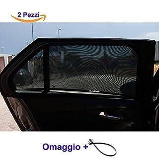 Gardinen Sonnenschutz Auto Kinder für Fenster seitlich, UV-Schutz für Haustiere. Schutz von Insekten und Mücken. 100% Premium Qualität waschbar. Tür Schlüssel aus Silikon gratis
