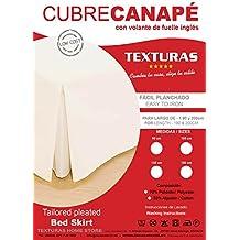 BASIC HOME by TEXTURAS Cubrecanapé Loneta Fuelle Inglés Crudo ( Varios tamaños disponibles )