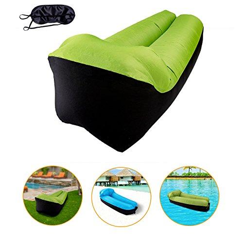 Charmylo Sofá Hinchable para Exteriores, Tumbona Hinchable, sofá de Aire con cojín Integrado y Sombra de Ojos, Saco de Aire para Playa, sofá de Aire, sofá Hinchable para Nadar, Viajes, Camping