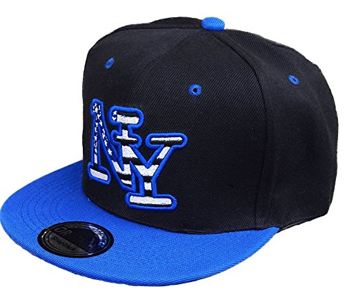 Viper SSC Basecap Baseball SNAP Back Cap New York Fittet Damen Herren USA (Schwarz Blau) Ssc Cap