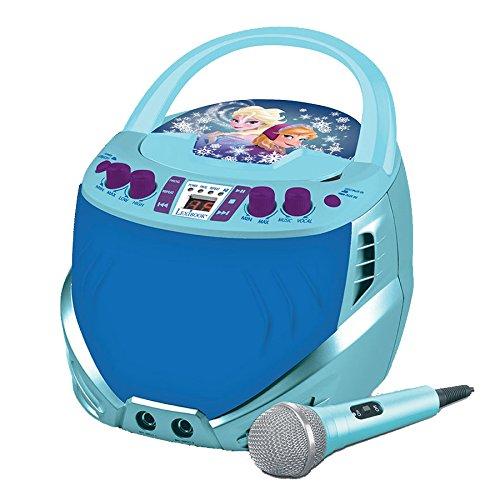 Frozen - Reproductor de CD-G portátil para karaoke (Lexibook K7000FZ)