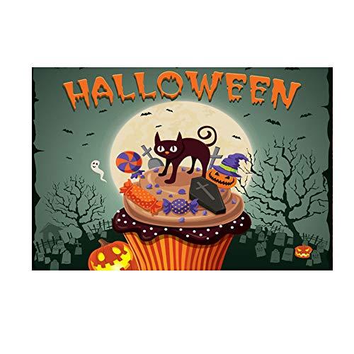 (LANDFOX Halloween-Fotostudio 150 * 90cm Hintergrund des Studiohintergrundes 3D Halloween Backdrops 5 x 3FT Laterne Hintergrund Fotografie Studio Dekoration Halloween Dekorationen)