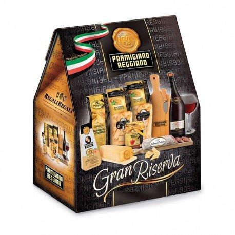Confezione regalo natalizia'Gran Riserva' con 9 specialità italiane