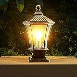 Moderna lampada da colonna luminosa per esterni lanterna lampada da giardino IP55 impermeabile cortile cortile lampada da giardino illuminazione esterna colonne pilastro in mattoni luce