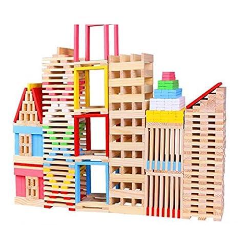 150pcs En Bois Blocs De Construction De La Construction De Briques Enfants Les Jouets De \ '