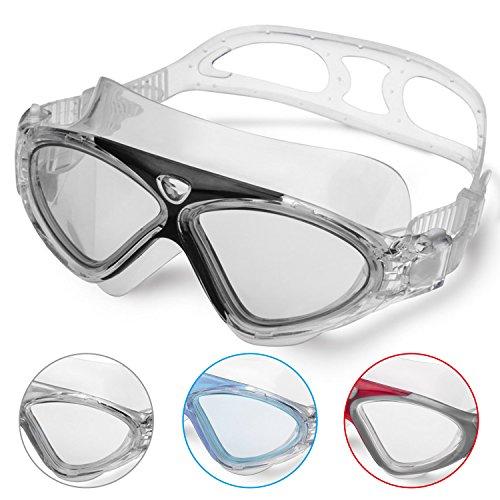 Schwimmbrille Erwachsene Anti Fog Ohne Leakage deutlich Anblick UV Schutz Einfach zu anpassen, Professional und Bequem für Mann und Frau bei Winline