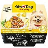 GimDog Futter / Little Darling Fruity Menu Ragout mit Thunfisch, Ananas & Gemüse / Für Hunde bis 10 kg / Natürliches Hundefutter ohne künstliche Aromen & Farbstoffe / Hundenassfutter 800g (8 x 100g)