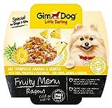 Gimdog Futter/Little Darling Fruity Menu Ragout mit Thunfisch, Ananas & Gemüse/Für Hunde bis 10 kg/Natürliches Hundefutter ohne künstliche Aromen & Farbstoffe/Hundenassfutter 800g (8 x 100g)