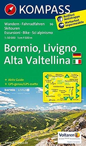 Carta escursionistica n. 96. Bormio, Livigno, Valtellina. Adatto a GPS. Digital map. DVD-ROM