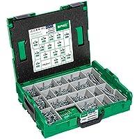 SPAX Montagekoffer, L-BOXX, groß, WIROX A3J, T-STAR plus, Senkkopf, 16 Abmessungen, 2446 Stück, inkl. SPAX BITcheck, 5000009161019
