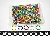 Progom - Elastiques -25(Ø16) mm x 1.7mm - Multi couleurs (blanc, jaune, vert, rouge,...