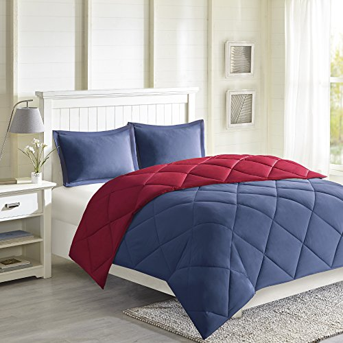 Madison Park Larkspur Schmusetuch Casual King Rot/Marineblau -